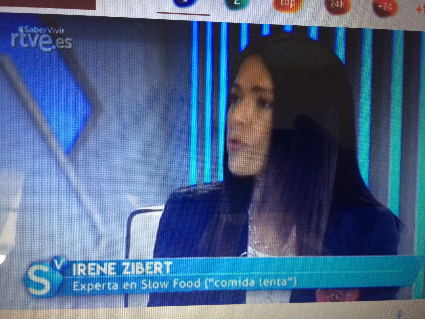 Irene Zibert Saber Vivir Slow Food RTVE